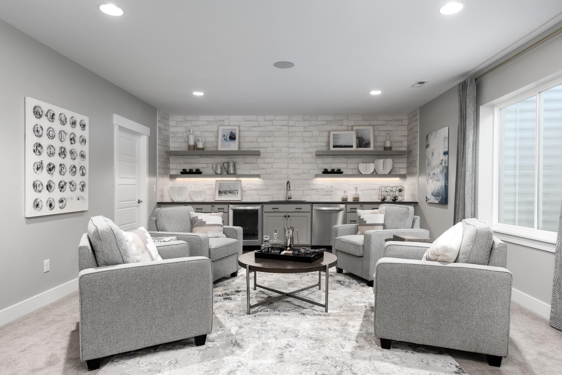 New Home Basements Photos of Fieldstone Homes