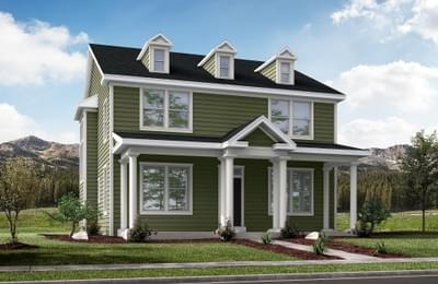 Optional Enlarged Porch & Dormers
