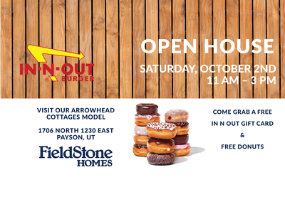 OPEN HOUSE  OCT 2ND – FREE Gift Cards & Donuts